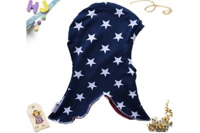 Click to order Size 3 Coif Dark Blue Stars now